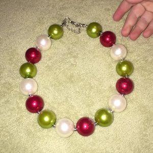 Christmas bubble gum necklace